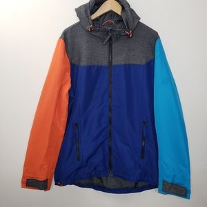 American Eagle Outfitter Color Block Jacket Size L